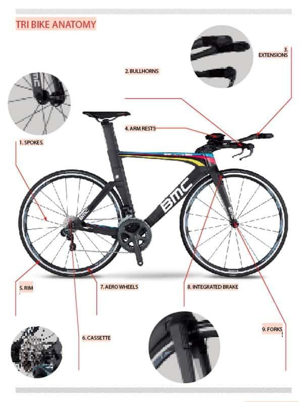 anatomia bici de triatlón
